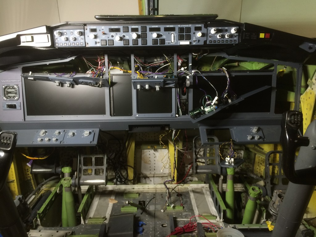 Main instrument panel (MIP) in the process of installation.